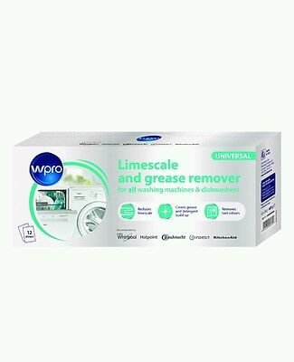 ,* WPRO C00424828 Limescale & Detergent Remover 12 Pack - Universal - New