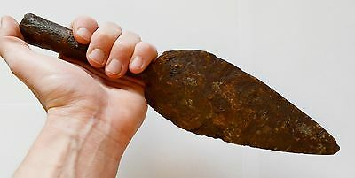 Huge Ancient Roman Iron Battle Spear Spearhead Blade