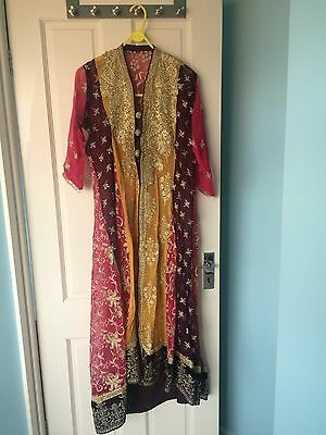 Asian Multicoloured Jacket Style Party/wedding Outfit