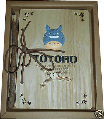 TOTORO Anime Wooden Note Book with Pen