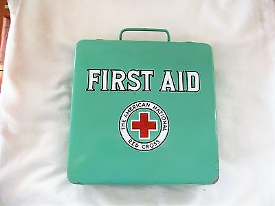 Vintage 1950's American Red Cross First Aid Kit * Complete Sealed Contents