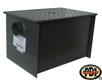 PDI Certified WentWorth Grease Trap interceptor New 40 lb 20 GPM Model # wpgt20