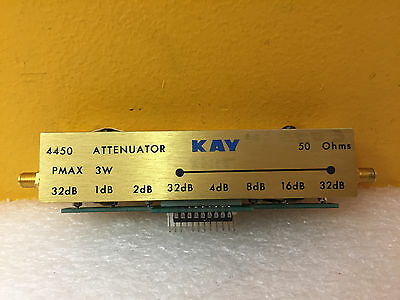 Kay 4450, DC to 1500 MHz, 0 to 127 dB, 50 Ohm, SMA (F) Programmable Attenuator