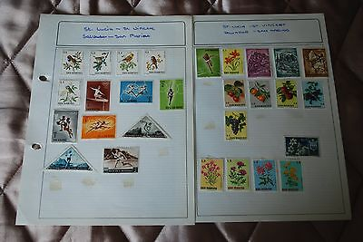San Marino Used Stamps - 2 Sheets