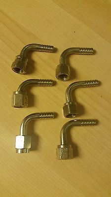 """Stainless Flare to Barb 90 Elbow 1/4""""  Lot of 6"""