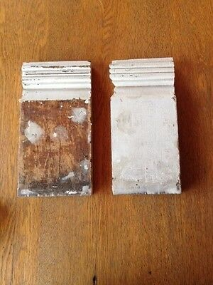 Antique plinth blocks - one partial and one full