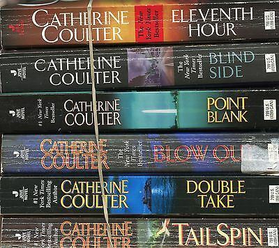 Lot Of 6 Pb~Catherine Coulter~Fbi Series 2Nd 6 Books~11Th Hour~Blind Side~Blow O