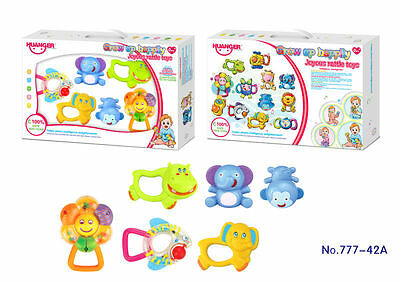 6Pc Baby Shaking Rattles Activity Entertainment Toys Playset 777-42A