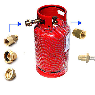 Refillable Gas Bottle Cylinder for Motorhome, Campervan, Boat + adapters!
