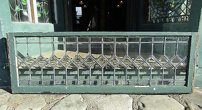 Antique 5 Foot Beveled Glass Transom Window