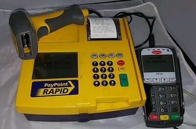 PayPoint Rapid Terminal Barcode Scanner ingenico iPP320 Pay Point 1100 Epos Card
