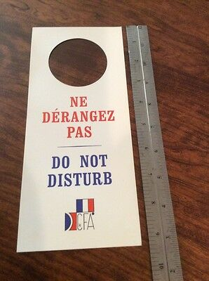 FRENCH Do Not Disturb PRIVACY PLEASE/Ne D'Erangez Pas English+French
