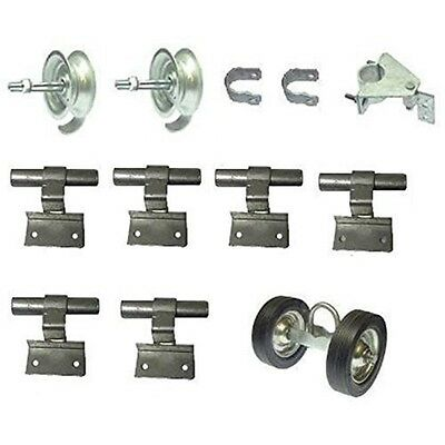 ALEKO Wall Mount Rolling Gate Hardware Kit for Chain Link Gate Fence