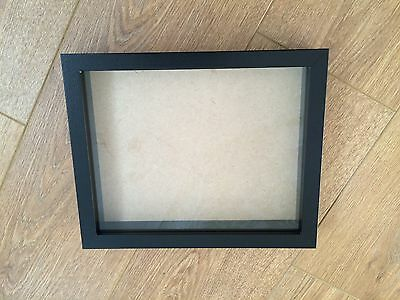 Shadow Box, Wooden Picture / Photo Frame - NEW 10x8 inch - BLACK