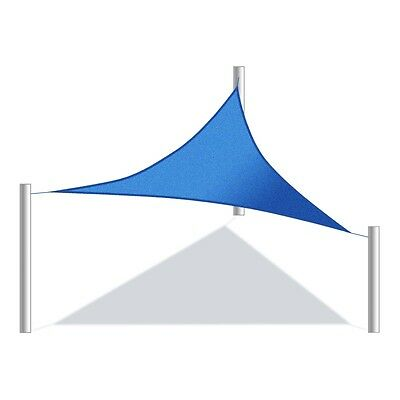 ALEKO Waterproof Sun Shade Sail Triangular 16.5x16.5x16.5 Ft Canopy Blue Color