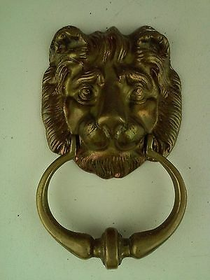 Lion Head Door Knocker 7-Inch Total Length