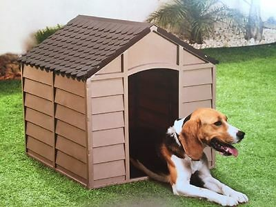 Starplast Plastic Durable Outdoor Dog Kennel Shelter - Mocha