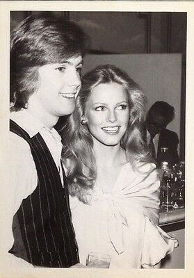 Shaun Cassidy, Cheryl Ladd Rare Candid 5X7 B&w Photo Must See