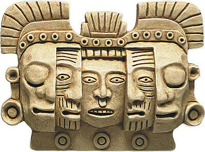 Mayan Mask of Death and Rebirth Sculpture Relief art museum reproduction replica