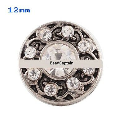 Fits Ginger Snap Mini Snaps Rhinestone Button Petite Jewelry Magnolia Vine 12mm Charms & Charm Bracelets