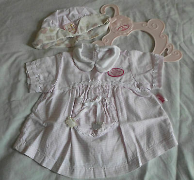 Baby Annabell Checked Summer Dress & Matching Hat