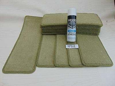 Carpet Stair pads Mats / treads 16 off and  with a FREE can of SPRAY GLUE #482-2