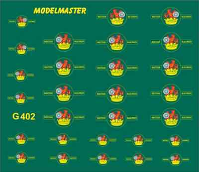 Modelmaster G402 BR Loco Crests 1948 - 1956 (Set no1) OO Gauge Transfers
