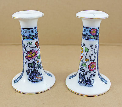 Pair Of Vintage Good Condition Losol Ware Candle Stick Holders