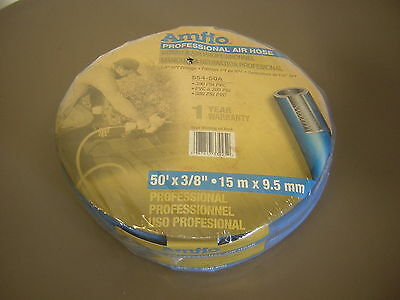 "Amflo Industrial Grade Air Hose 300 Psi 1/4 "" Npt Brass 3/8 "" X 50 '"