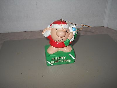 "1981 Ziggy And Fuzz Christmas Ornament 3 3/4"" Tall"