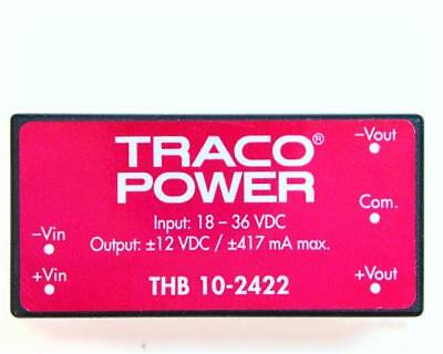 1 x TRACOPOWER Isolated DC-DC Converter THB 10-2422, Vin 18-36V dc, Vout ±12V dc