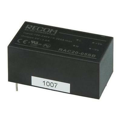 1 x Recom RAC20-05SB 1 Output Embedded Switch Mode Power Supply 18W, 5V dc, 3.6A