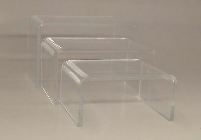 Small Clear Acrylic Display Risers: Set of 3