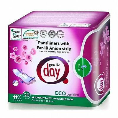 Gentle Day® Far-IR Anion Absorbent Pantiliners packs