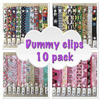 10x dummy/ pacifier clip/saver-toy /teething Strap- Lucky Dip