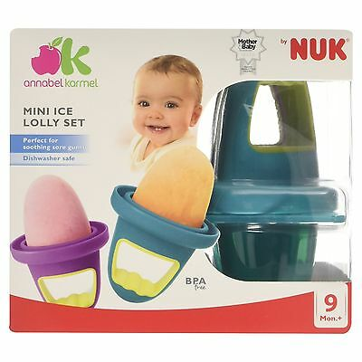 Annabel Karmel by NUK Mini Ice Lolly Moulds Freeze For Baby New