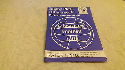 Kilmarnock fc v Partick Thistle 1979/80 Cup