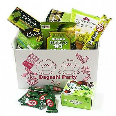 "Assorted Japanese Green Tea Flavor Junk Food Snacks ""Dagashi"" Party"