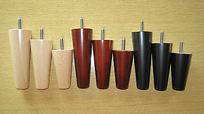 Set of 4 wooden legs/feet for sofas, settees, chairs