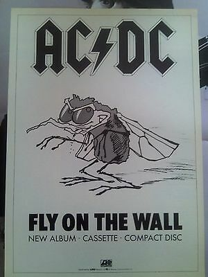 AC/DC Fly on the Wall Album Advertisement A4 Page Poster Kerrang
