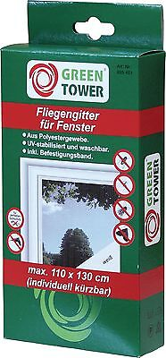GREEN TOWER Window Fly Screen 110 x 130cm White Insect protection z b