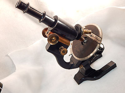 L@@K BIG $ CUT ANTIQUE No.5 SPENCER RESEARCH MICROSCOPE, ROTATING STAGE GUARTD