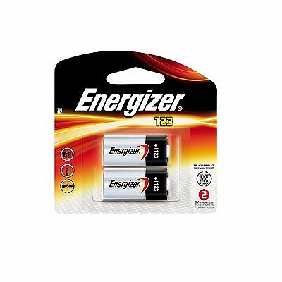 2 x Energizer CR123A CR123 123 3v Lithium Photo Battery Exp 2023