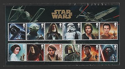 gb 2015 STAR WARS CHARACTER STAMP SET