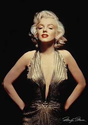 Marilyn Monroe Movie Poster Art Print Wall Decor Gold 24x36  96