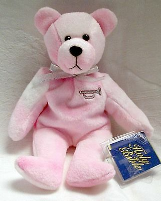 Holy Bears Pink Precious with Silver Trumpet  NWT