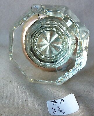 "Door Knob (SINGLE) 8 point Bright Crystal Glass/brass  2 3/8""d"