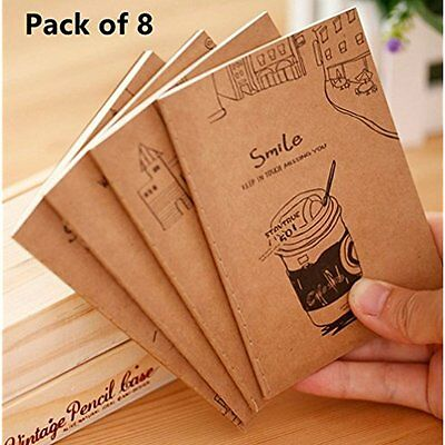 Alimitopia 8pcs Mini Diary Notebook Steno Books Memo Note Pads,4.7X3.3,20 Per