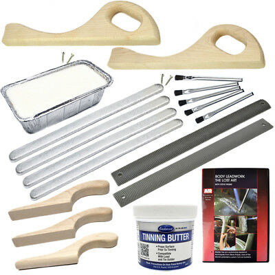 Deluxe lead wiping body solder kit for car restoration custom hot rod project