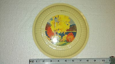Vintage Fall Scene Stovepipe/chimney Shield Flue Vent Cover Without Wires